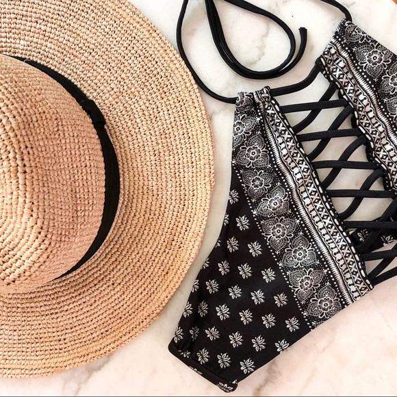 Other - Black and White High Neck Bikini Top
